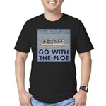 Go With the Floe Men's Fitted T-Shirt (dark)