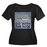 Go With the Floe Women's Plus Size Scoop Neck Dark