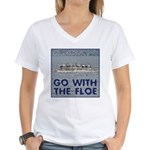 Go With the Floe Women's V-Neck T-Shirt