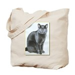 Mom's cat, Melody on tote bag