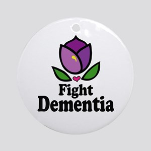 Fight Dementia Ornament (Round)