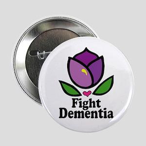 """Fight Dementia 2.25"""" Button"""