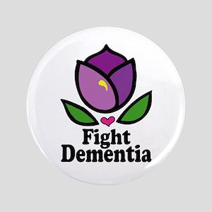"""Fight Dementia 3.5"""" Button"""