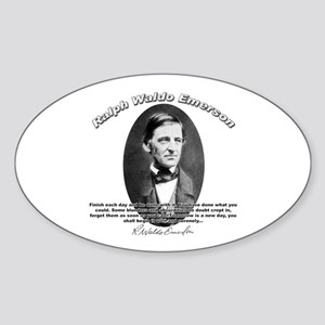 Ralph Waldo Emerson 02 Oval Sticker