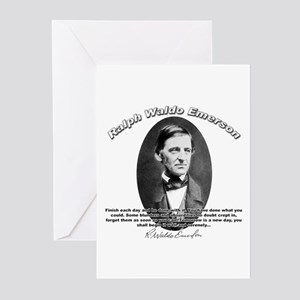 Ralph Waldo Emerson 02 Greeting Cards (Package of