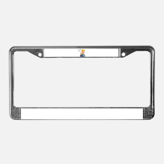 Unique Jeffrey License Plate Frame