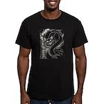 Cheshire Cat Men's Fitted T-Shirt (dark)
