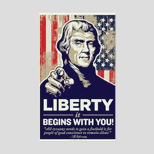 Jefferson Liberty Rectangle Sticker