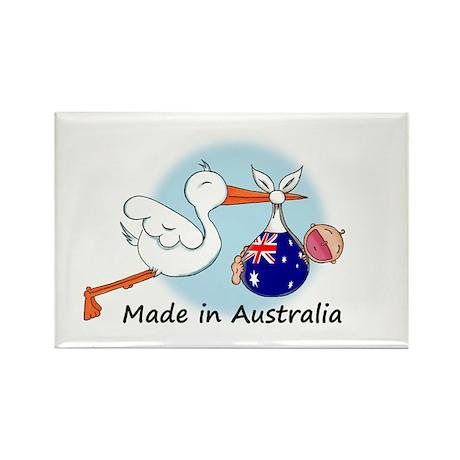 Stork Baby Australia Rectangle Magnet