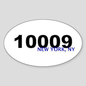 10009 Oval Sticker