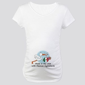 Stork Baby Mexico USA Maternity T-Shirt