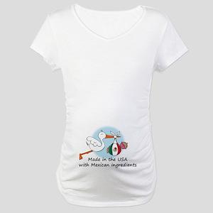 3df276e1553e5 Stork Baby Mexico USA Maternity T-Shirt