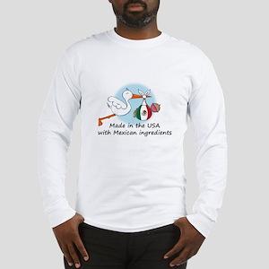 Stork Baby Mexico USA Long Sleeve T-Shirt