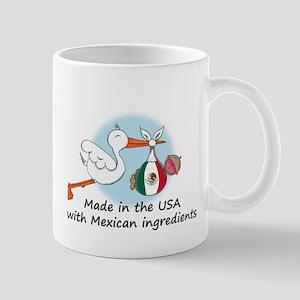 Stork Baby Mexico USA Mug