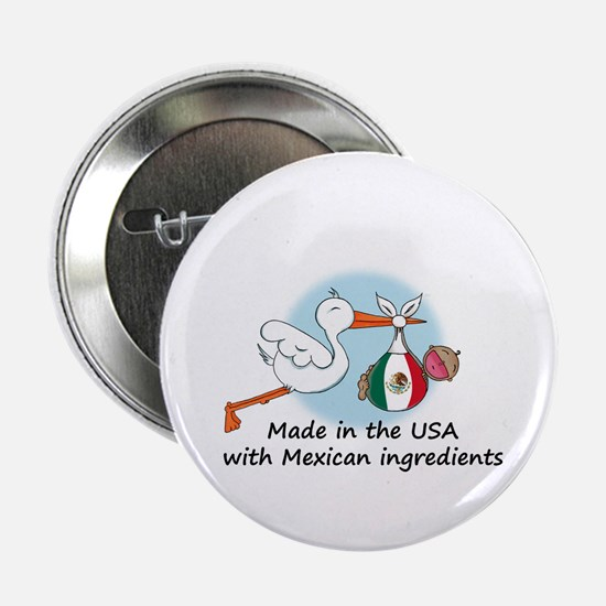 "Stork Baby Mexico USA 2.25"" Button"