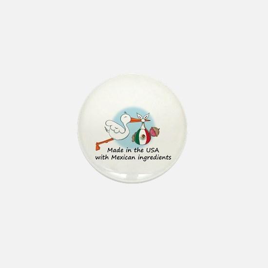 Stork Baby Mexico USA Mini Button