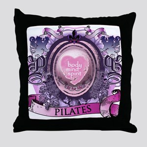 Fit for Life Pilates Victorian Velvet Throw Pillow
