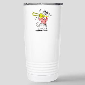 Trombone Cat Stainless Steel Travel Mug