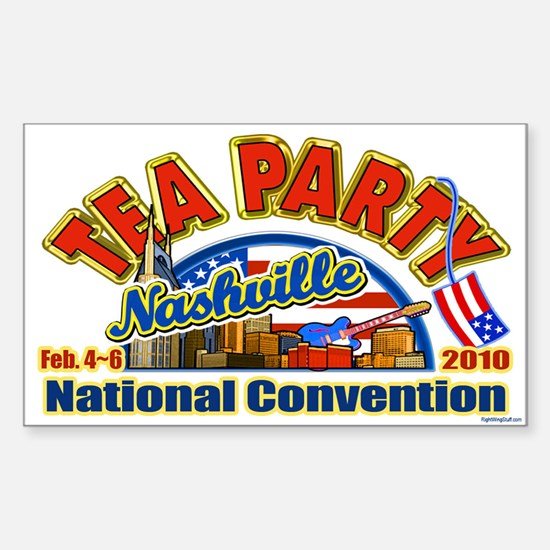 Tea Party Convention Rectangle Decal