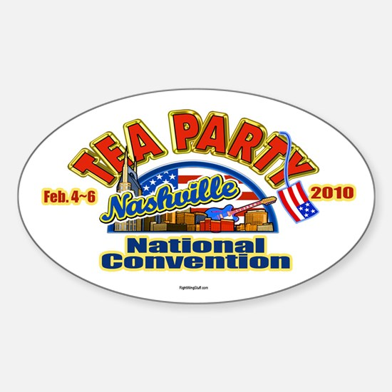 Tea Party Convention Oval Decal