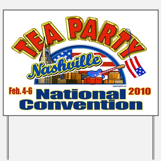 Tea Party Convention Yard Sign