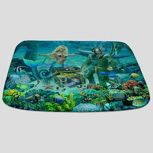 Mermaid's Coral Reef Treasure Bathmat