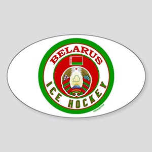 BY Belarus/Bielarus Ice Hockey Sticker (Oval)