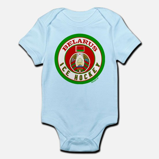 BY Belarus/Bielarus Ice Hockey Infant Bodysuit