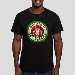 BY Belarus/Bielarus Ice Hockey Men's Fitted T-Shir