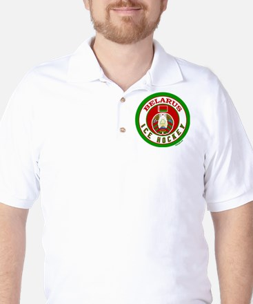 BY Belarus/Bielarus Ice Hockey Golf Shirt