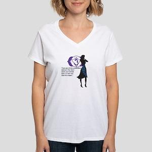 Third Eye Chakra Affirm Women's V-Neck T-Shirt