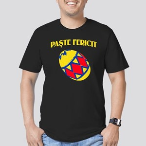 Romanian Easter Men's Fitted T-Shirt (dark)