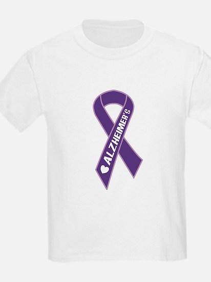 Purple Alzheimer's Ribbon T-Shirt