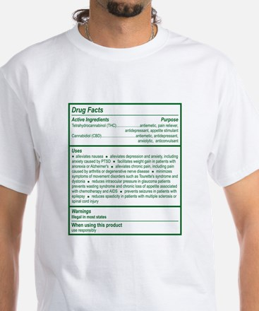 THC Drug Facts White T-Shirt