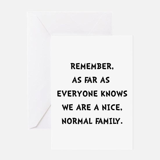 Normal Family Greeting Cards