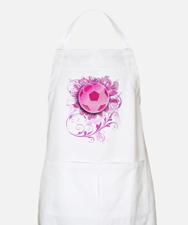 Womens Grunge Floral Soccer Apron