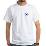 Blue Soccer Ball White T-Shirt