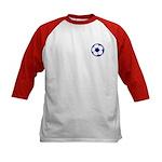 Blue Soccer Ball Kids Baseball Jersey