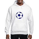 Blue Soccer Ball Hooded Sweatshirt