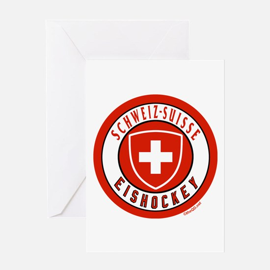 Switzerland Ice Hockey Greeting Card