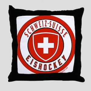 Switzerland Ice Hockey Throw Pillow