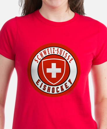 Switzerland Ice Hockey Women's Dark T-Shirt