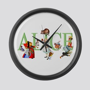 ALICE AND FRIENDS Large Wall Clock