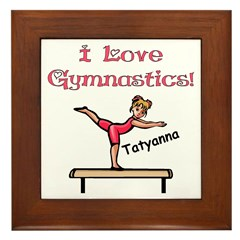 I Love Gymnastics (Tatyanna) Framed Tile
