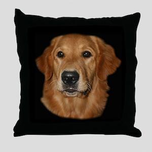 Head Study Golden Retriever Throw Pillow