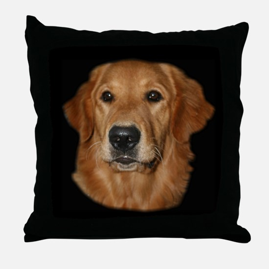 Head Study Golden Retriever Throw Pillow