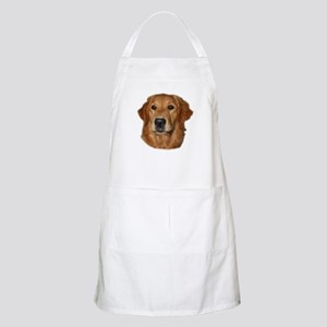 Head Study Golden Retriever BBQ Apron