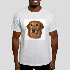 Head Study Golden Retriever Ash Grey T-Shirt
