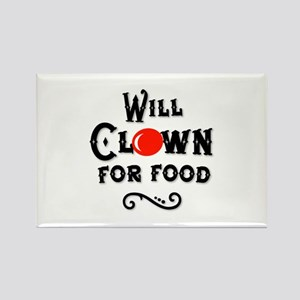 Will Clown For Food Rectangle Magnet