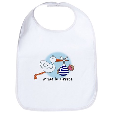 Stork Baby Greece Bib